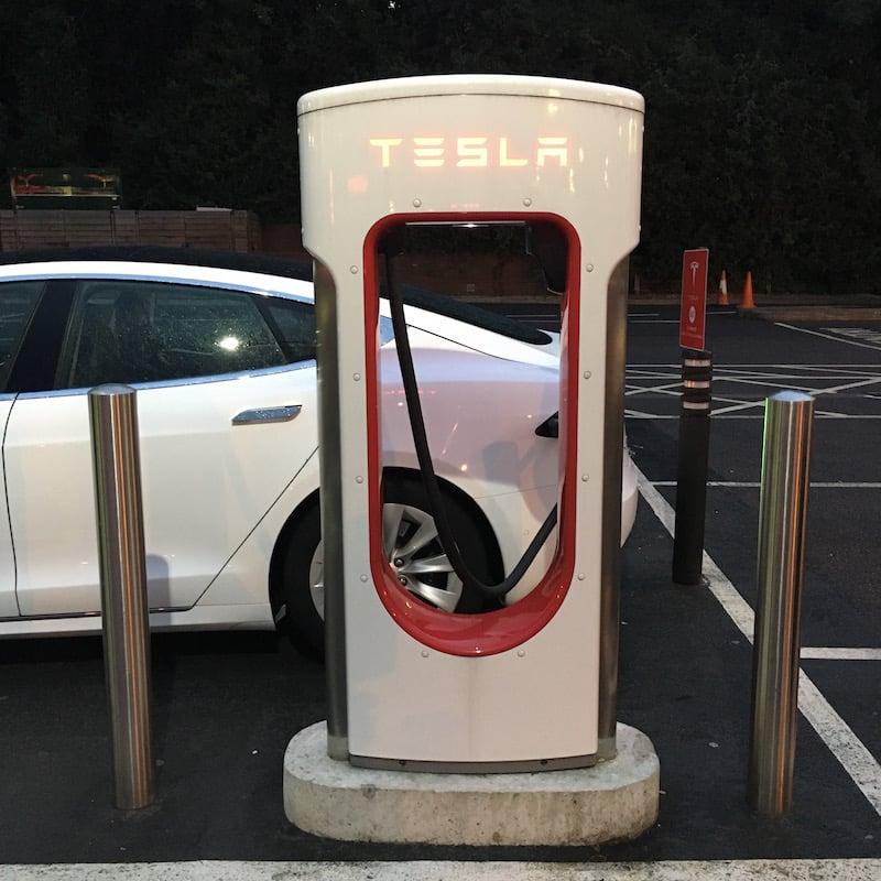 Tesla Supercharger charging station