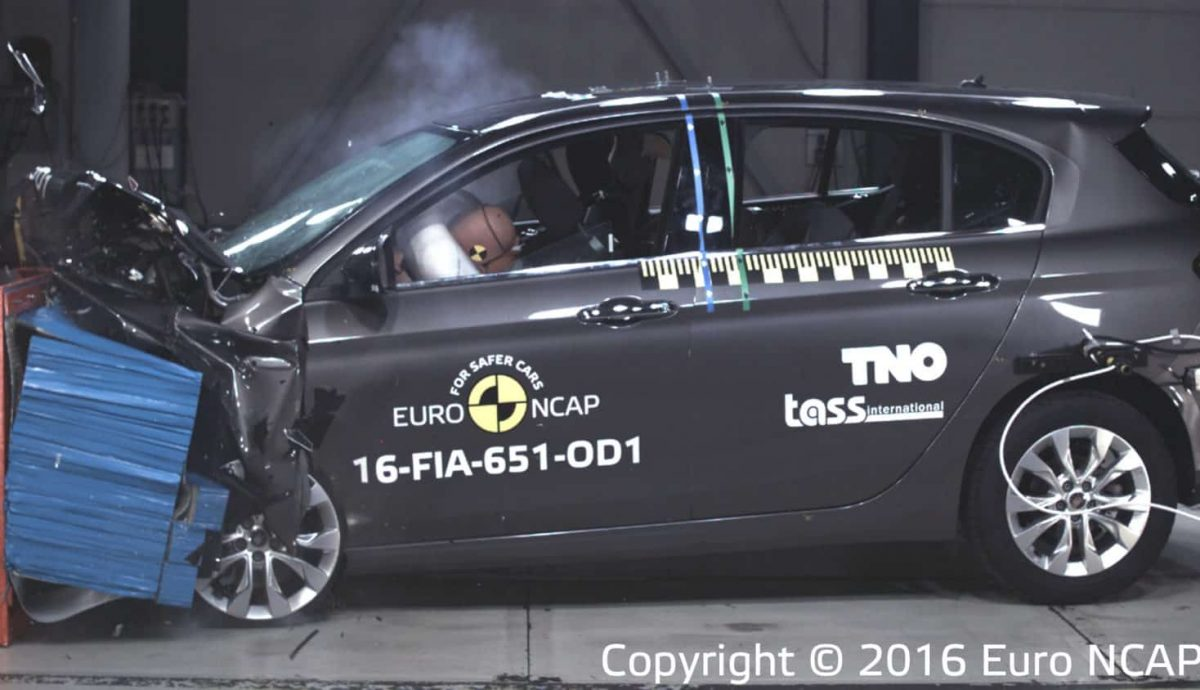 Fiat Tipo Euro NCAP crash test