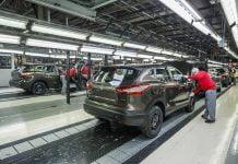 Nissan Sunderland production line