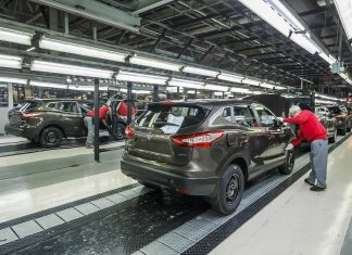 Nissan Sunderland production line