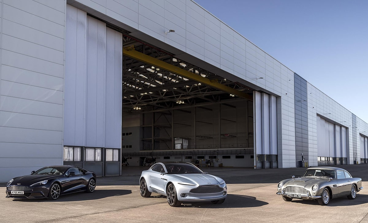 The three ex-MoD 'super hangars' will form the heart of the Aston Martin plant.