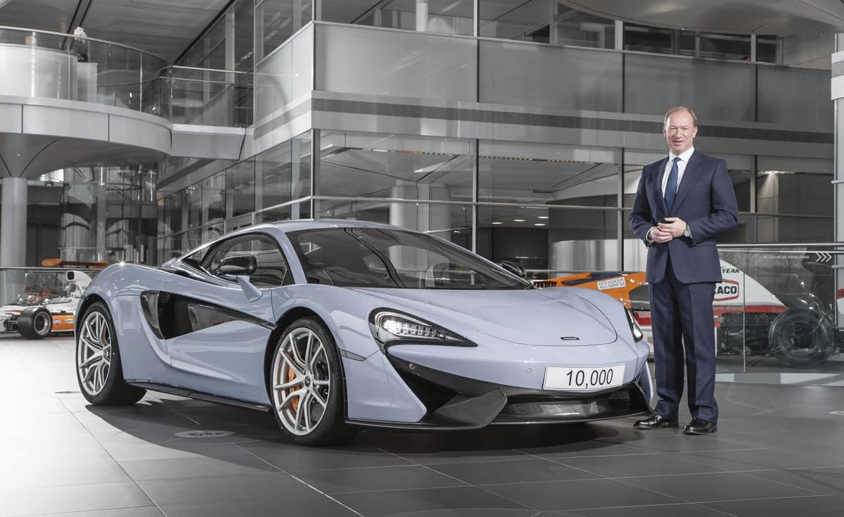 McLaren Automotive CEO Mike Flewitt believes the short time in which the 10,000 milestone has been reached shows the growth of the company.