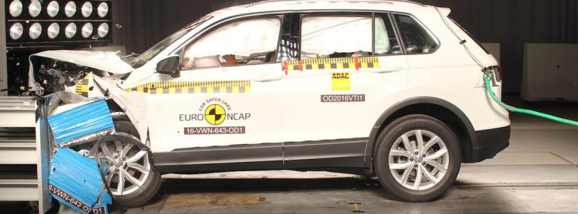 The Volkswagen Tiguan, named alongside two hybrids as the best performers in crash tests