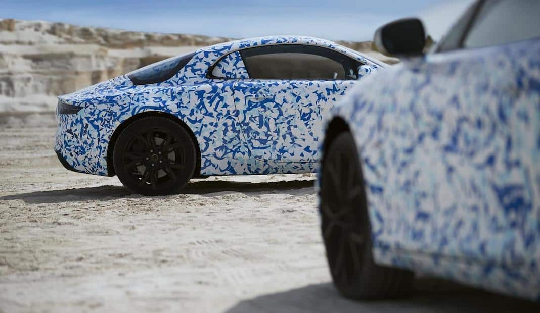 New Alpine sports car in camouflage