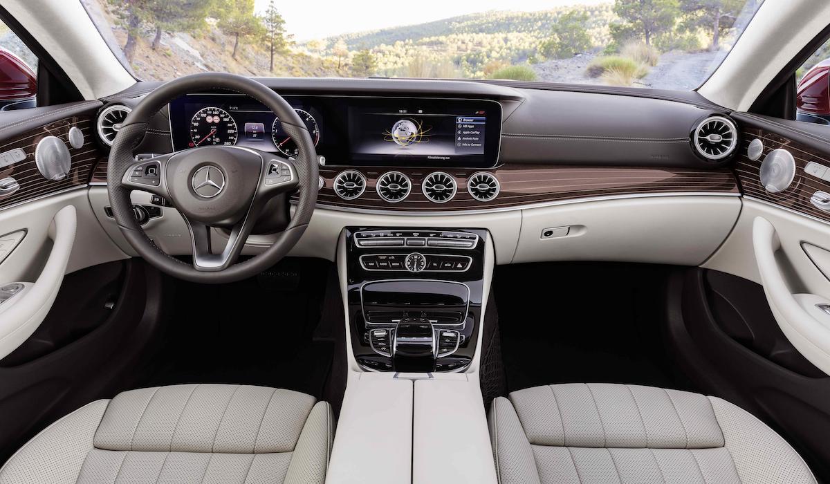 New Mercedes-Benz E-Class coupe dashboard