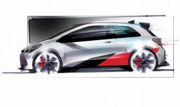 Toyota Yaris hot hatch design sketch