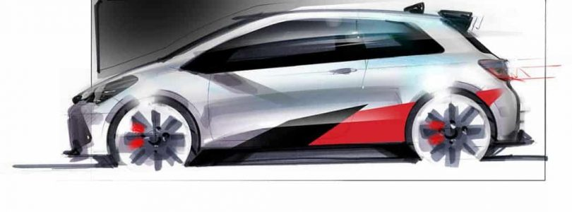 Toyota Yaris hot hatch design sketch