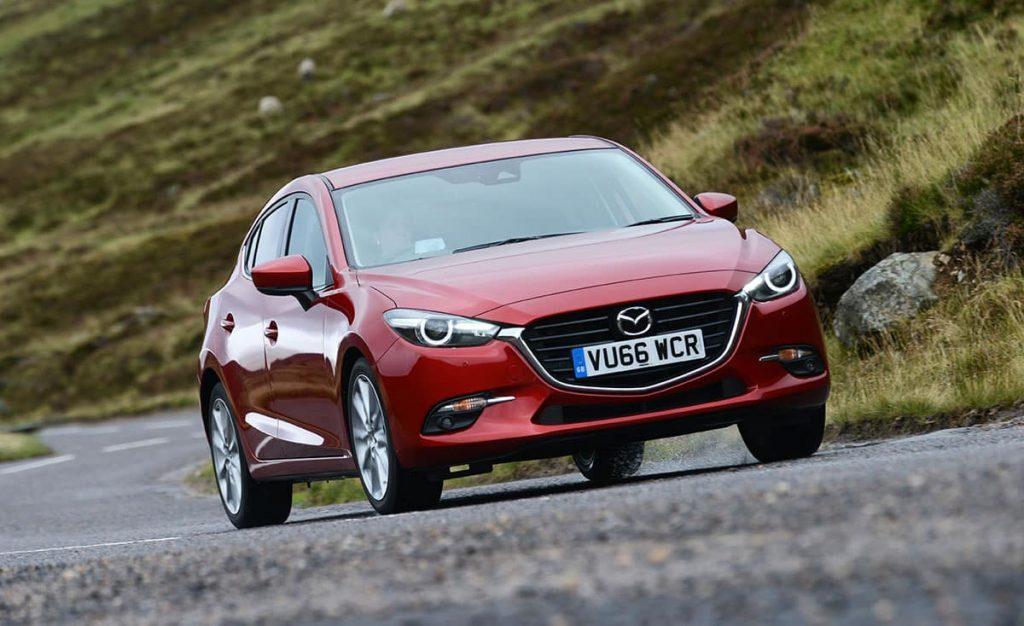 Mazda3 on road