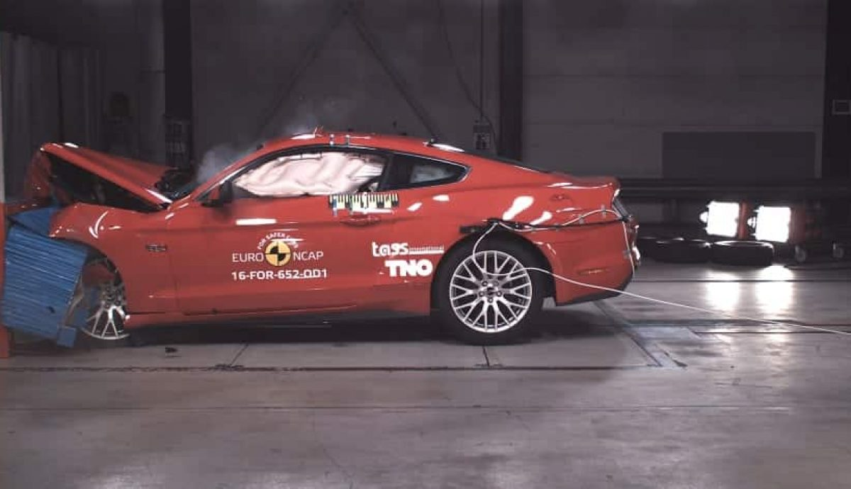Ford Mustang two-star Euro NCAP rating