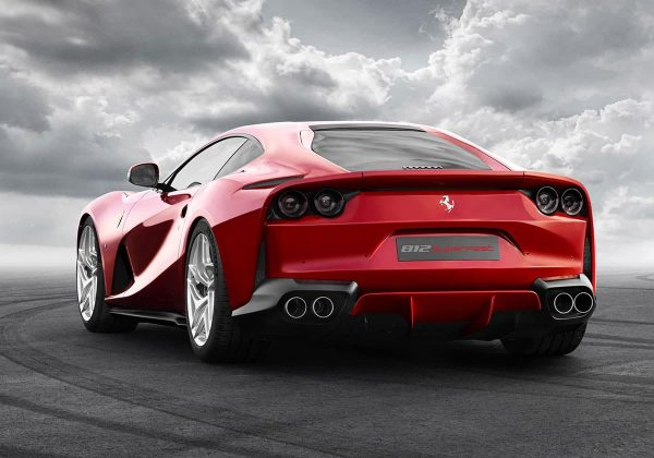 Ferrari 812 Superfast rear 3/4