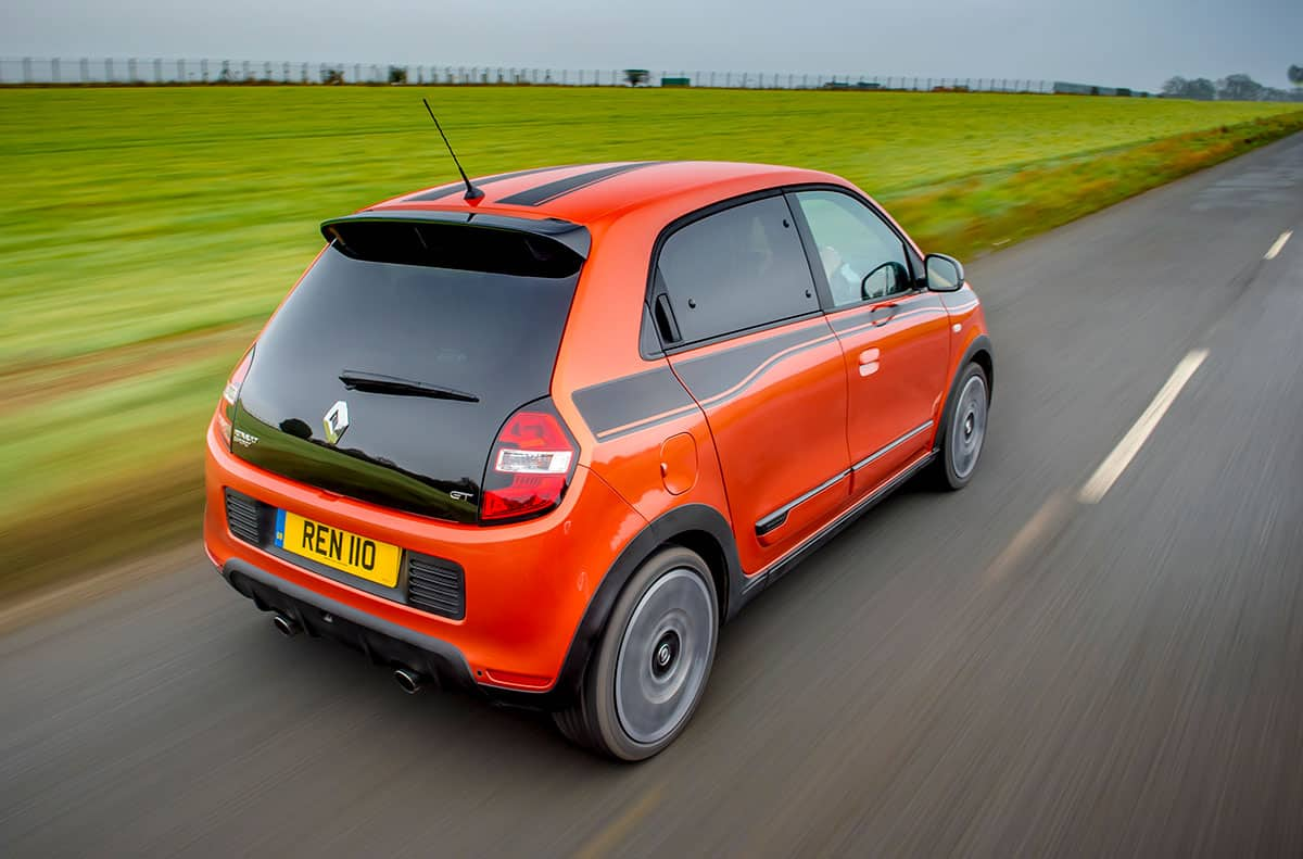 Renault Twingo GT on road rear 34