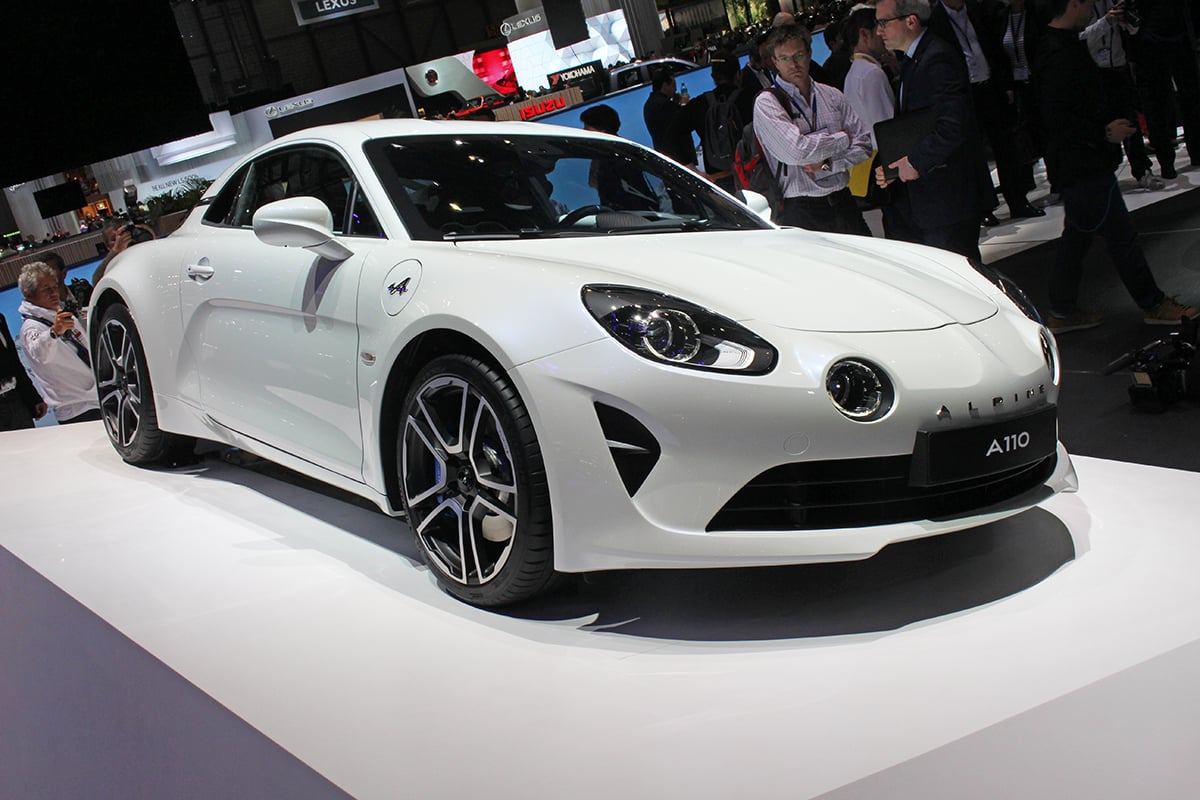 White Alpine A110 at the Geneva Motor Show