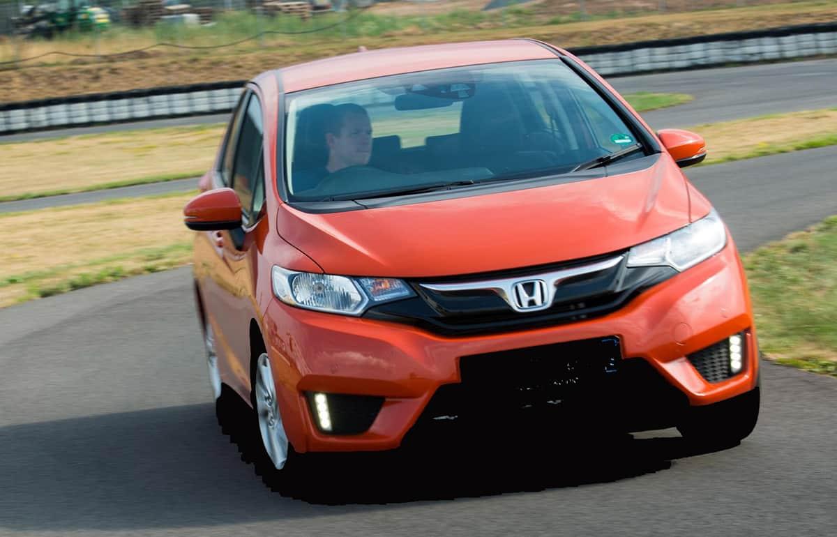 Honda Jazz cornering