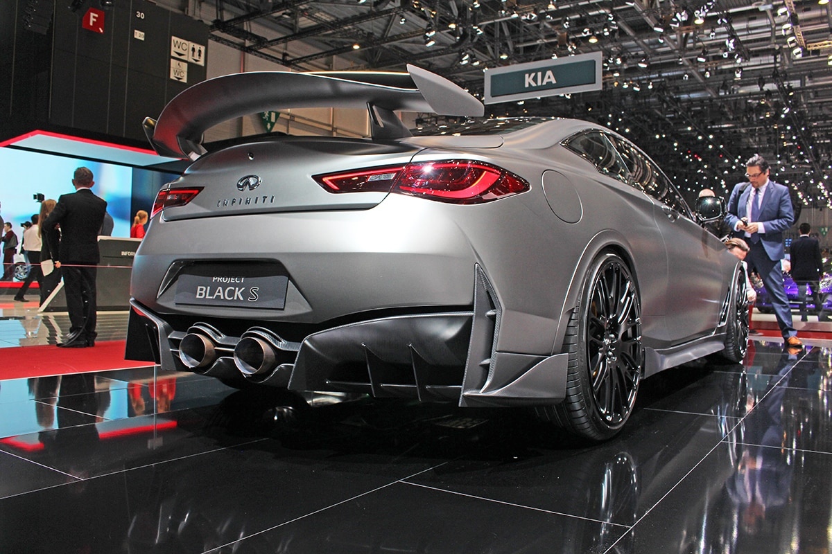 Rear-view of Infiniti Project Black S at Geneva Motor Show