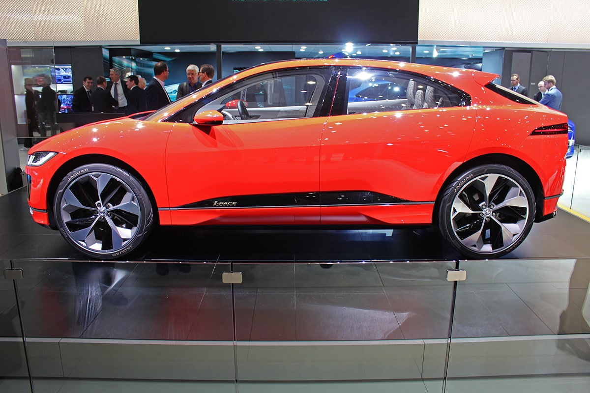 electric Jaguar i-Pace side