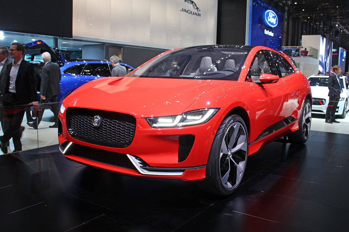 electric Jaguar i-Pace front 34