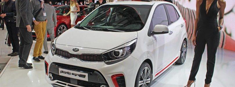 White Kia Picanto on display at the Geneva Motor Show