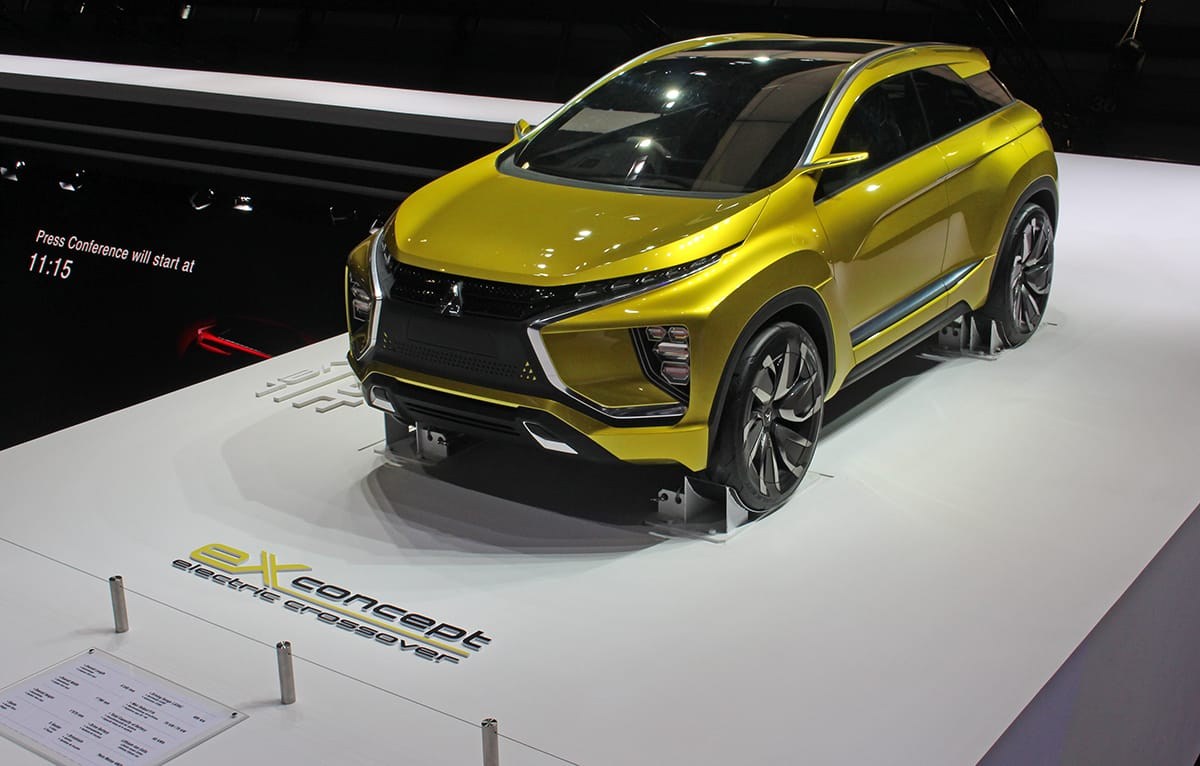 Also on Mitsubishi's stand alongside the Mitsubishi Eclipse Cross was the eX concept car