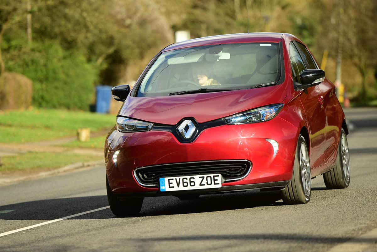 Renault ZOE front on road