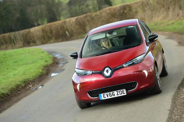 Renault ZOE on road