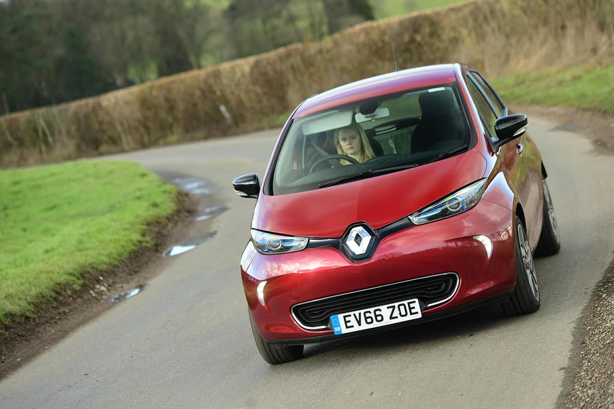 Renault ZOE on road