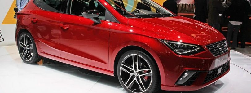 Red Seat new Ibiza on display at the Geneva Motor Show