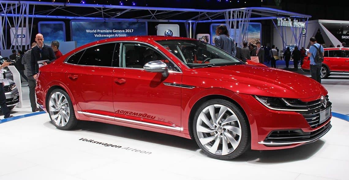 Red Volkswagen Arteon at Geneva Motor Show