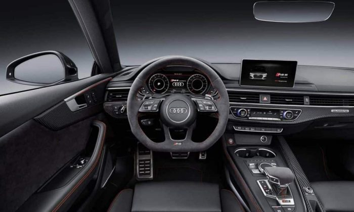 Interior view of the all-new Audi RS 5 Coupe