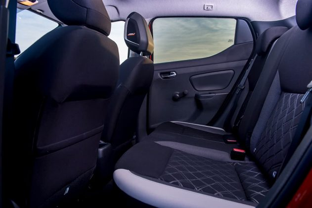 Nissan Micra rear seat
