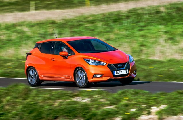 Nissan Micra front 34 on road