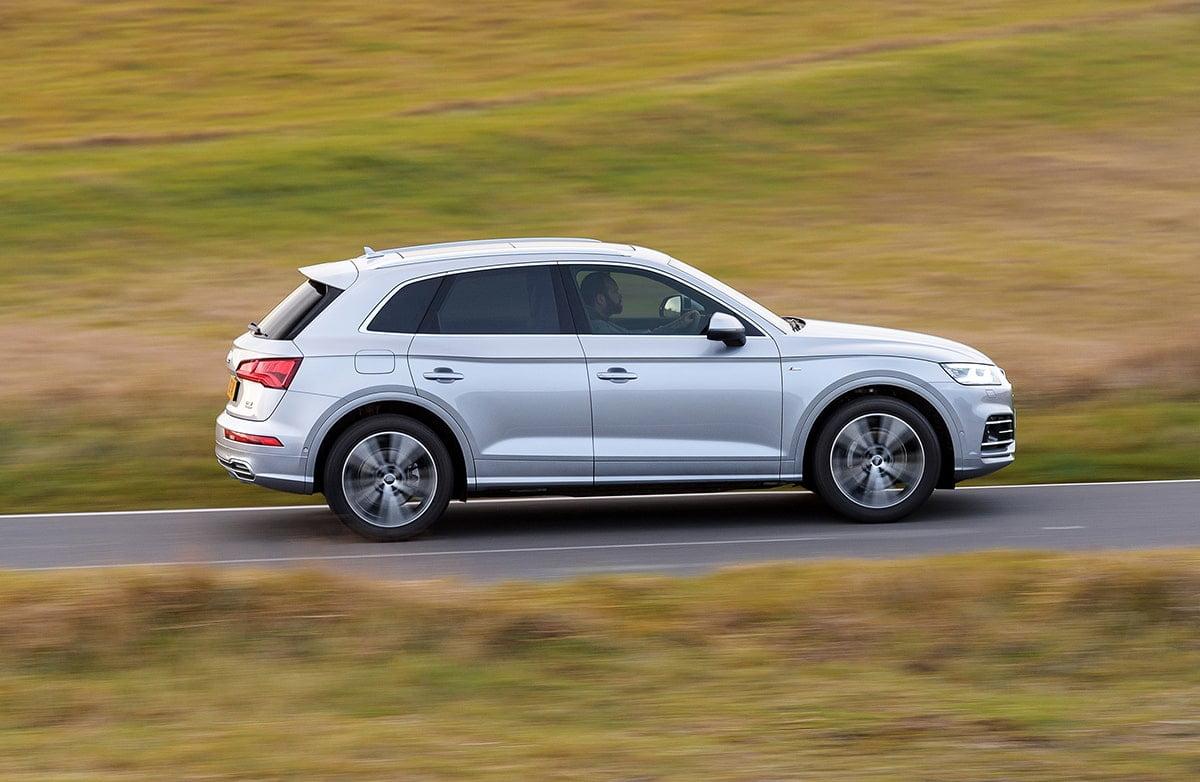 Audi Q5 side on road