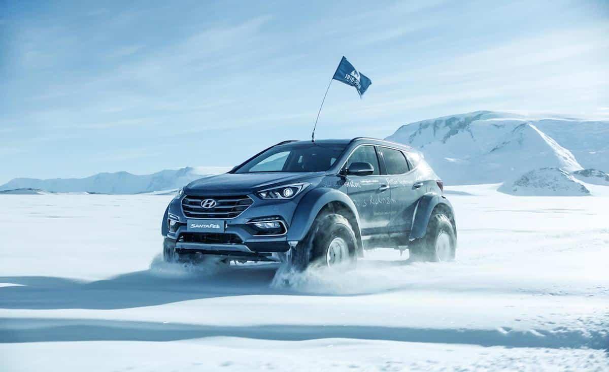 Hyundai Santa Fe Antarctic expedition vehicle (The Car Expert)
