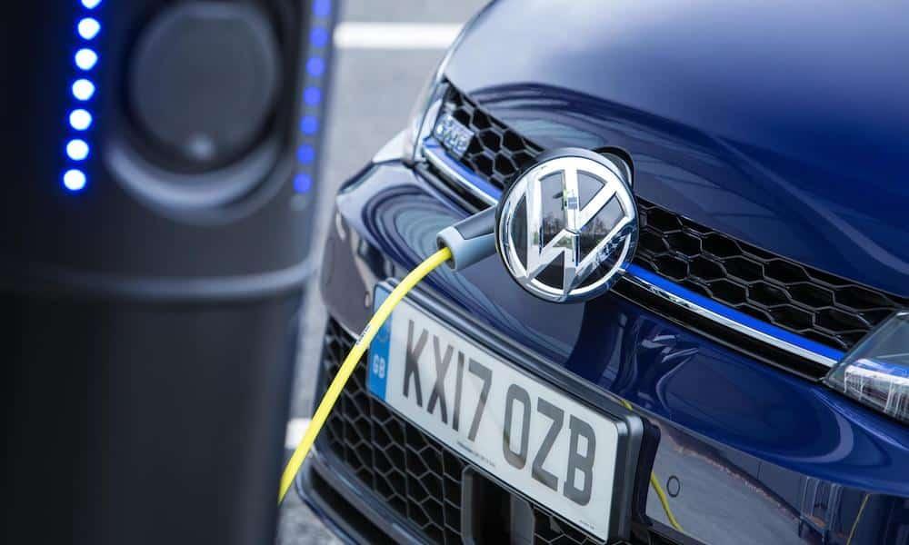 Volkswagen Golf GTE plug-in hybrid charging point