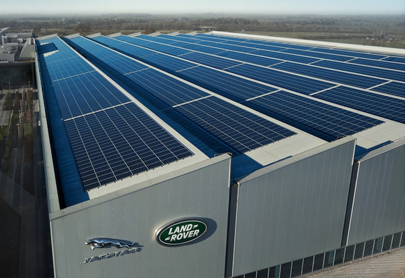 JLR Engine Manufacturing Centre EMC solar panels
