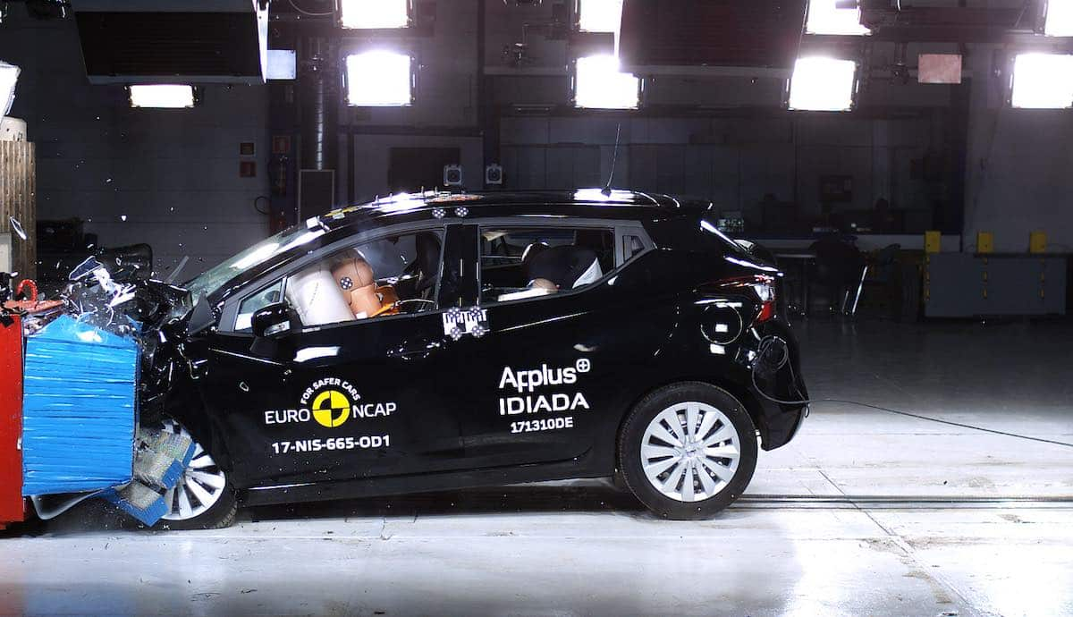 Nissan Micra scores a five-star Euro NCAP rating