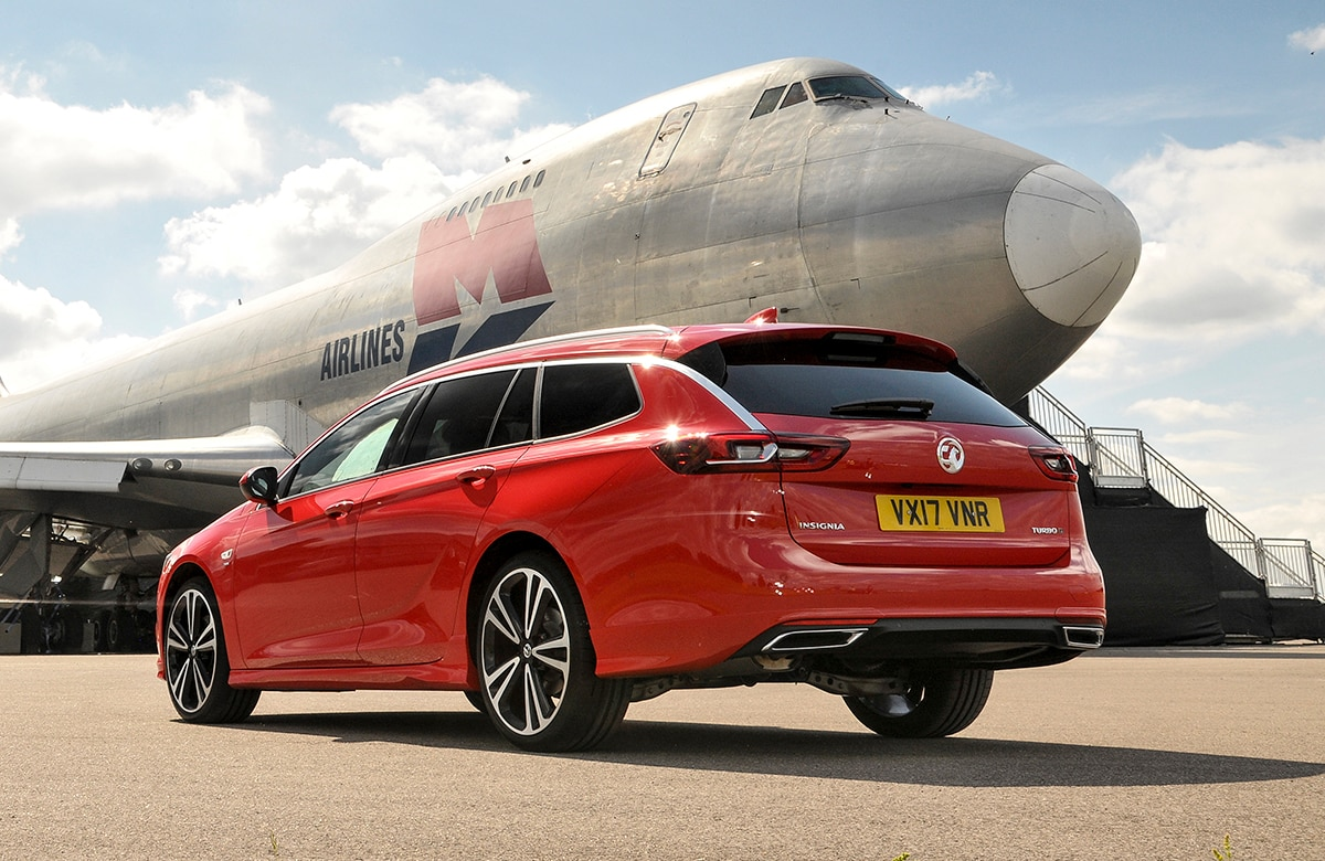 Vauxhall Insignia Sport Tourer - rear on airfield