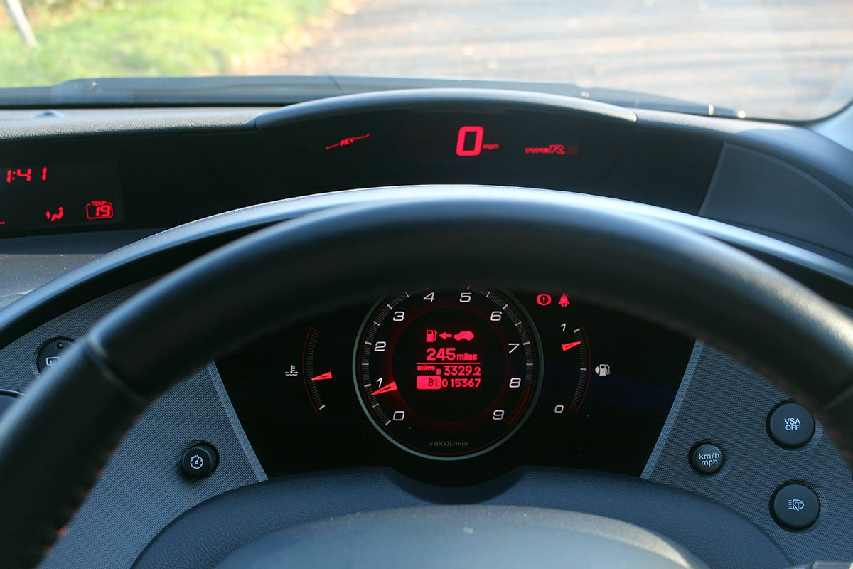 Honda Civic Type-R 2 dash