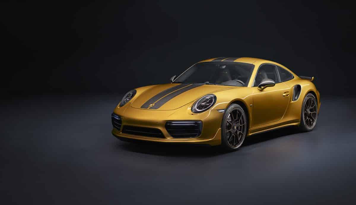 Golden Yellow Porsche 911 Turbo S Exclusive Series