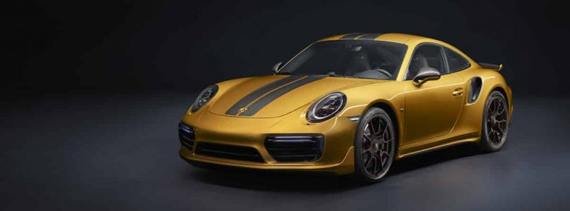 Golden Yellow Porsche 911 Turbo S Exclusive Series