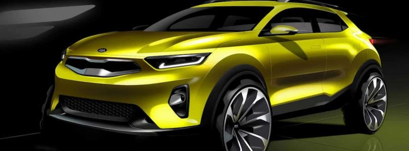 Sketch of new Kia Stonic compact crossover