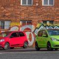 Red and green updated Skoda Citigo