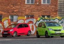 Red and green updated Skoda Citigo