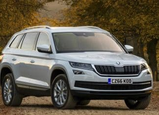 Front view of Skoda Kodiaq SE Technology (The Car Expert)
