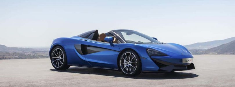 McLaren 570S Spider in Vega Blue