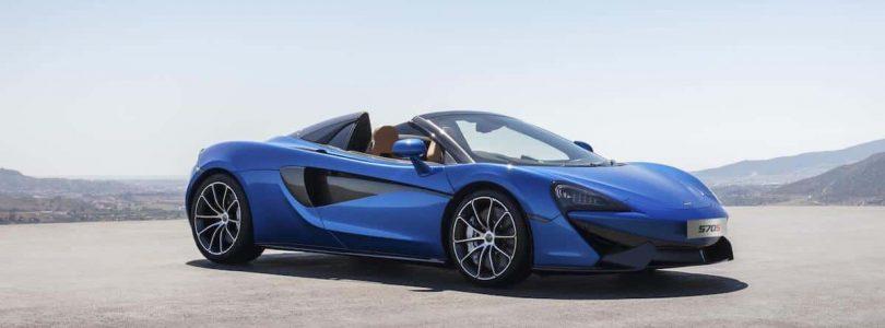 McLaren 570S Spider in Vega Blue