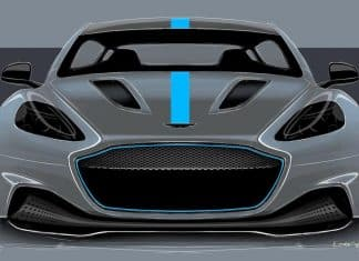 Front view of Aston Martin RapidE