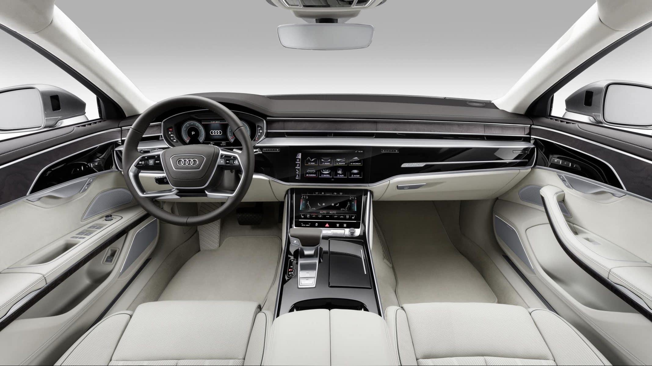 2017 Audi A8 cabin