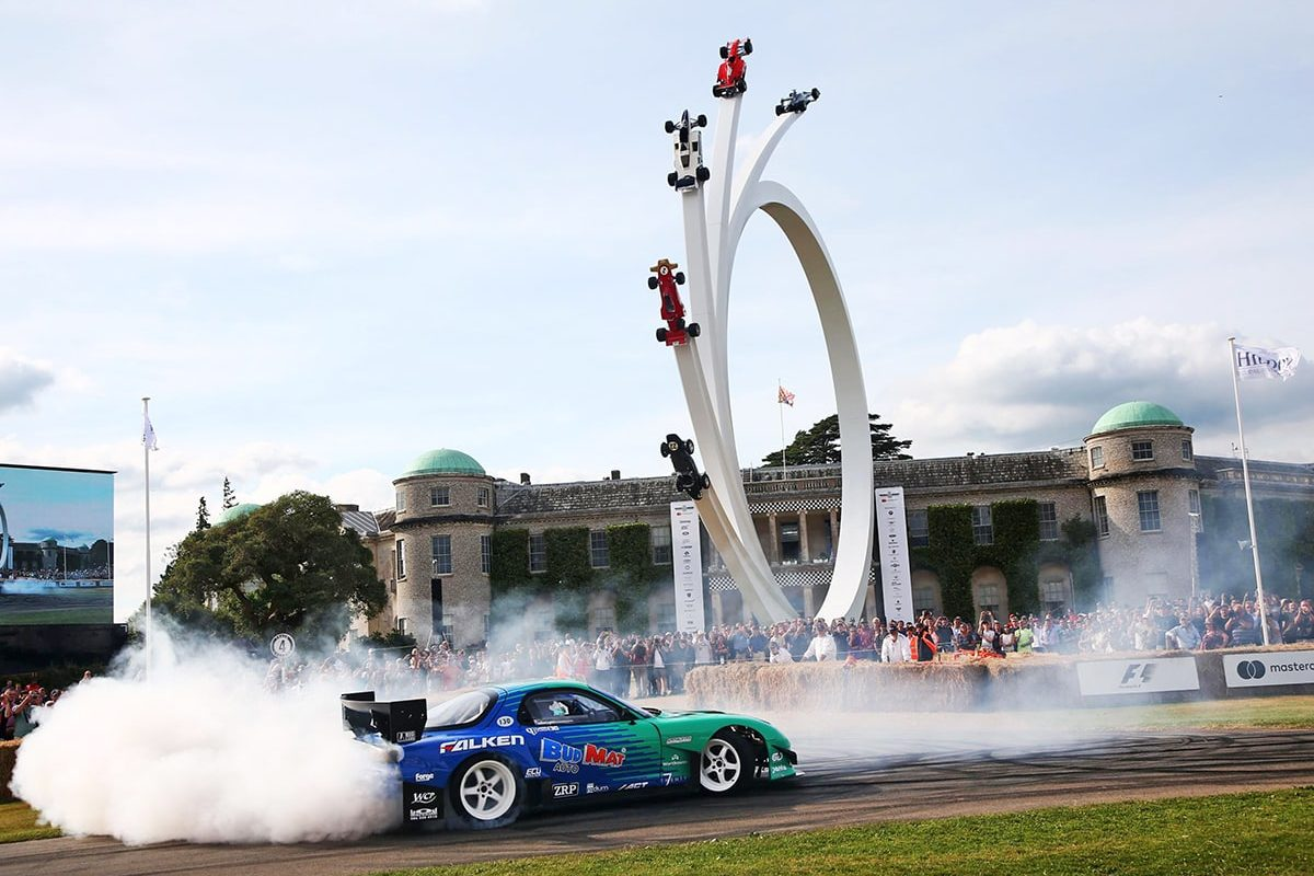 Goodwood Festival drifting