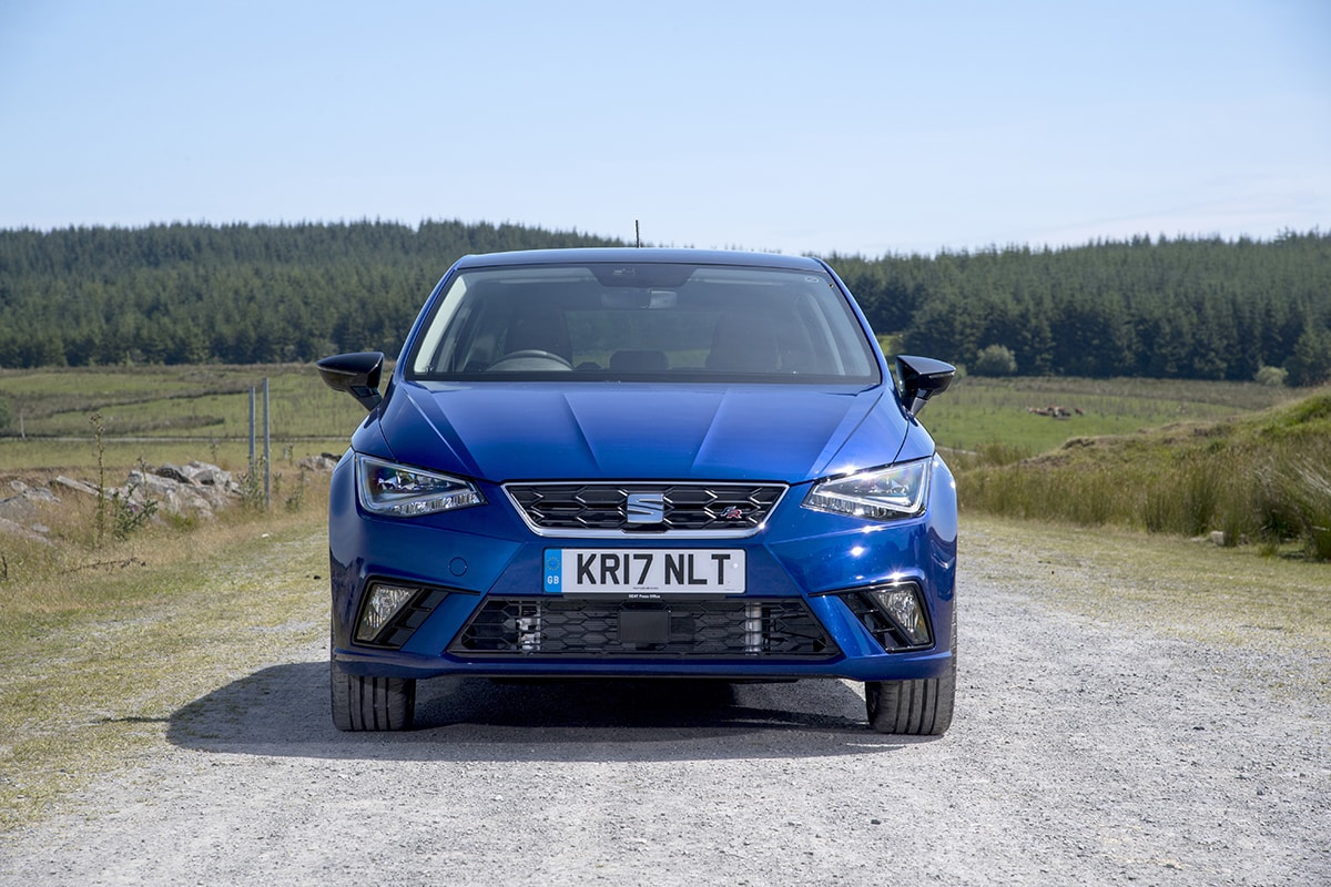 SEAT Ibiza 2017 - static front (The Car Expert)