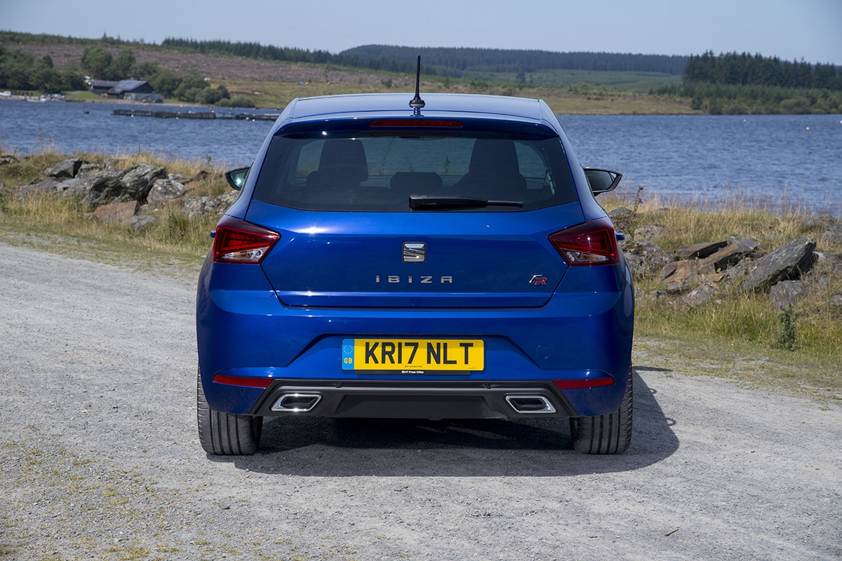 SEAT Ibiza 2017 - static rear (The Car Expert)